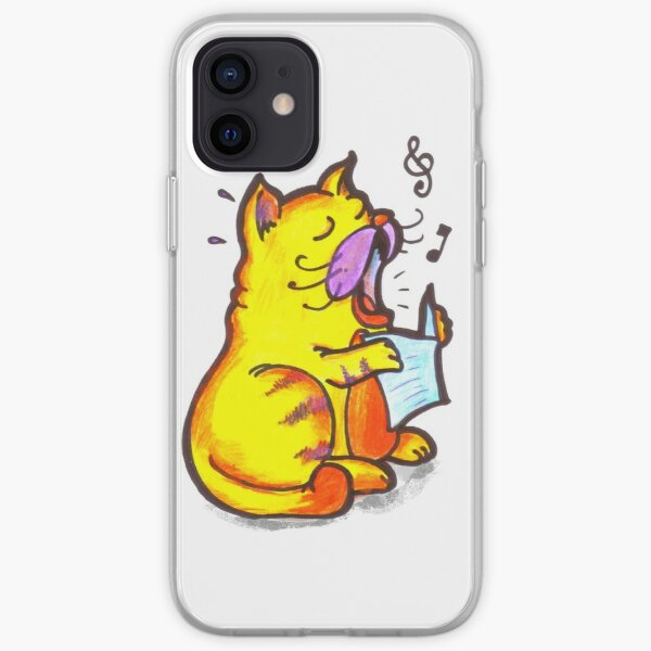 Tabby the singing kitty cat iPhone Soft Case