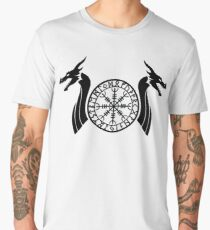 Norse Dragon - Helm of Awe Men's Premium T-Shirt