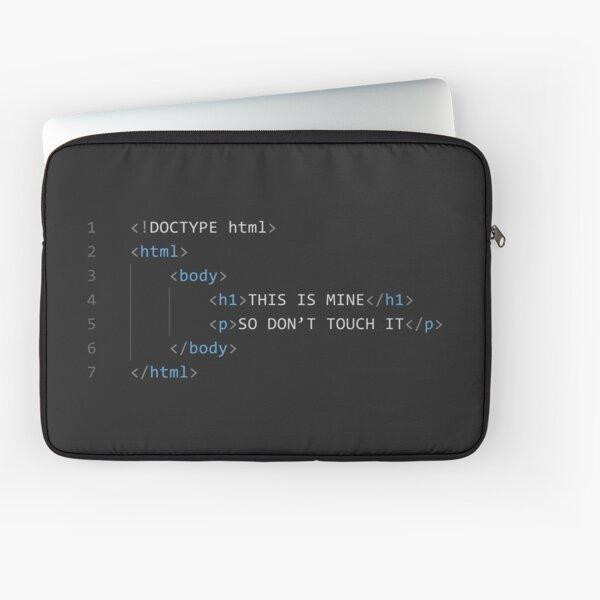 HTML Code Laptop Sleeve