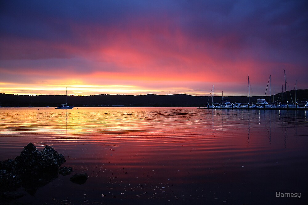 Gosford Waterfront Sunset 1 by Barnesy