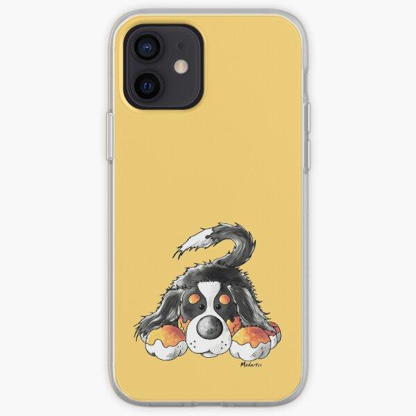 Cute Bernese Mountain Dog Puppy Cartoon iPhone Soft Case