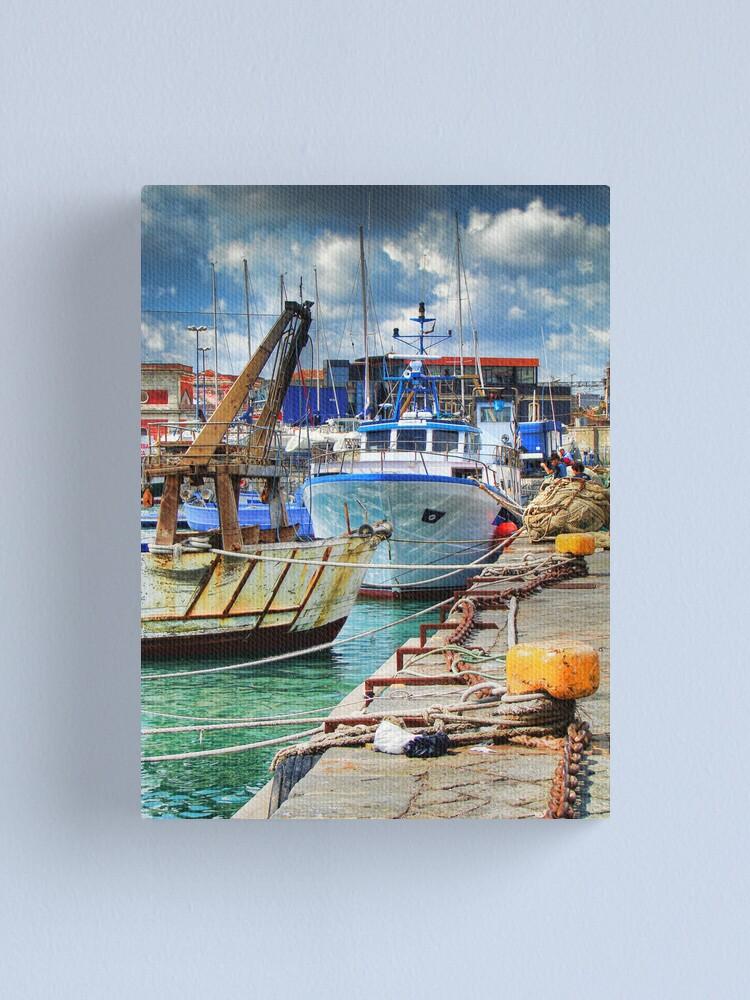 Alternate view of Barche ormeggiate al porto Canvas Print