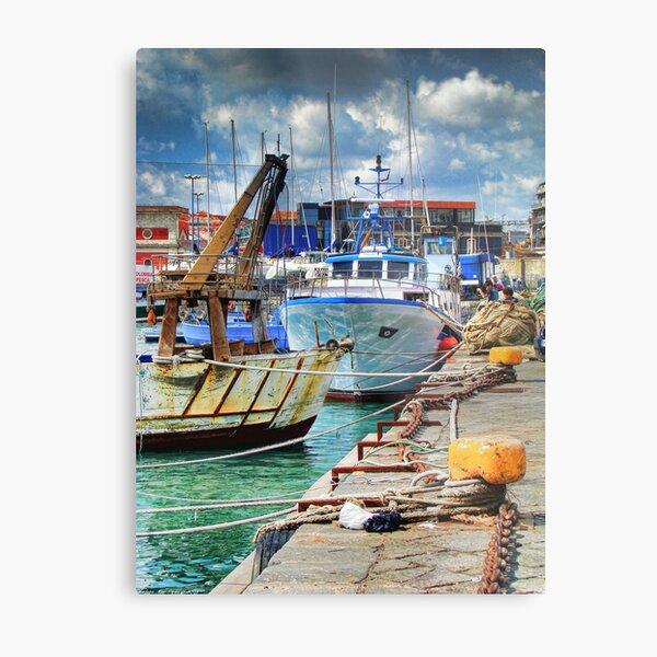 Barche ormeggiate al porto Metal Print