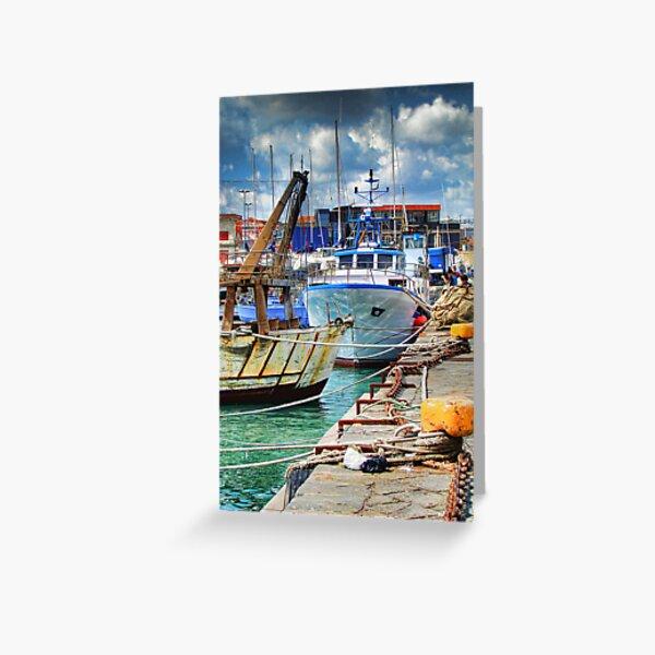 Barche ormeggiate al porto Greeting Card