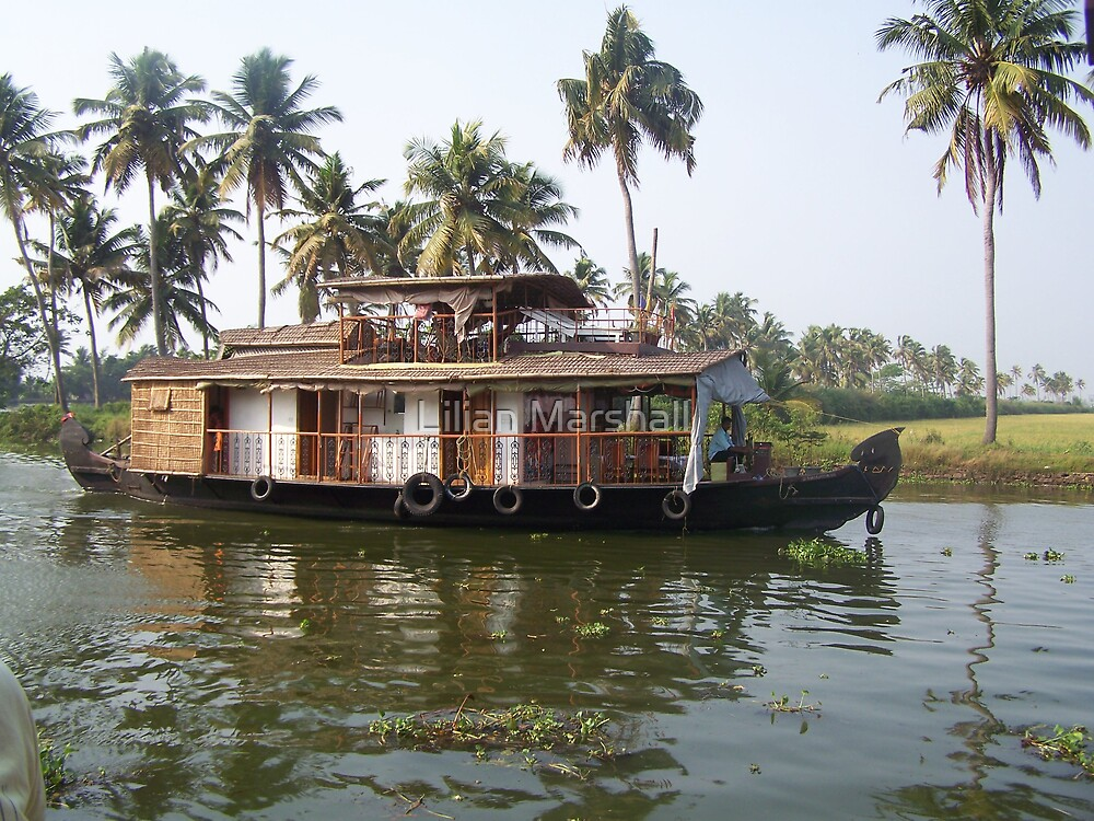 Houseboat on the Backwaters by Lilian Marshall