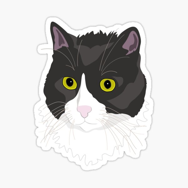 Casual Cat Sticker