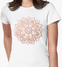 Rose Gold Mandala Fitted T-Shirt