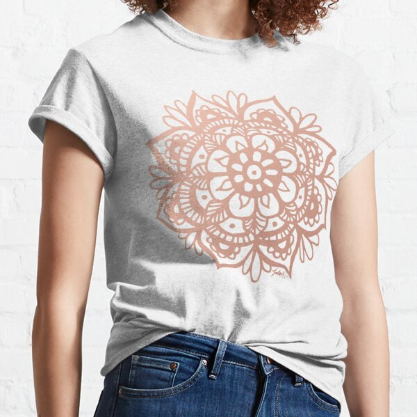 Rose Gold Mandala Flower Classic T-Shirt