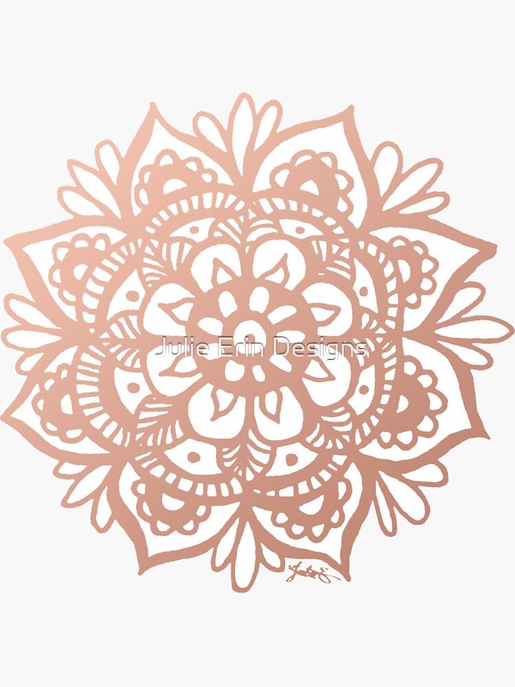 Roségold Mandala Blume von julieerindesign