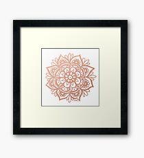 Rose Gold Mandala Framed Print