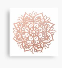 Lámina metálica Mandala de oro rosa