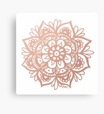 Rose Gold Mandala Canvas Print