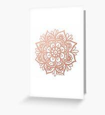 Rose Gold Mandala Greeting Card