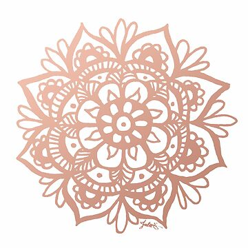 Rose Gold Mandala by julieerindesign