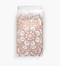 Rose Gold Mandala Duvet Cover