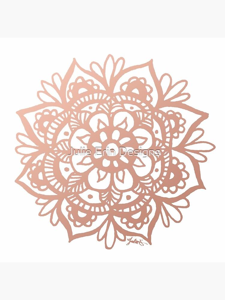 Flor de mandala de oro rosa de julieerindesign