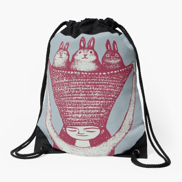 Basket of Bun Buns Drawstring Bag