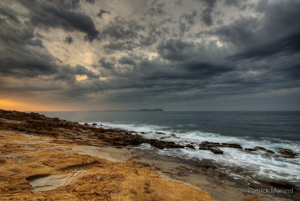 Stormy dawn on the sea by Patrick Morand