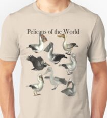 Pelicans of the World Unisex T-Shirt