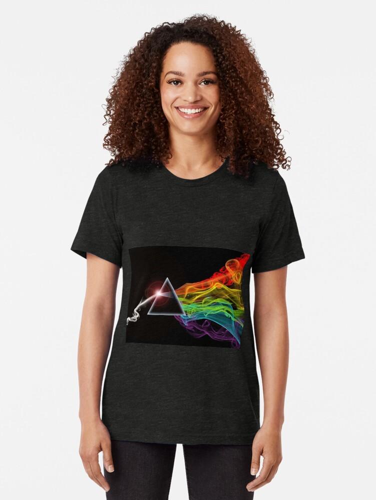 Vista alternativa de Camiseta de tejido mixto Pink Floyd - El lado oscuro de la luna