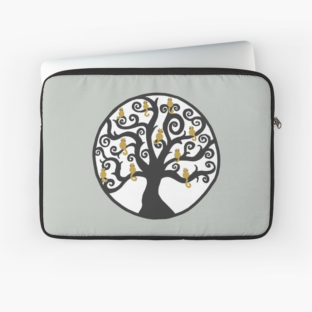 Cat Tree of Life Laptop Sleeve Front