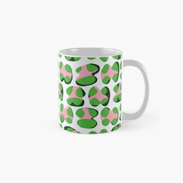 Alphabetti, coral pink, green, grey, gray Classic Mug