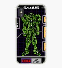 Super Metroid Samus Blueprint iPhone Case