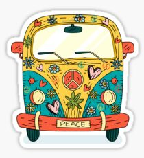 Pegatina The Hippie Van