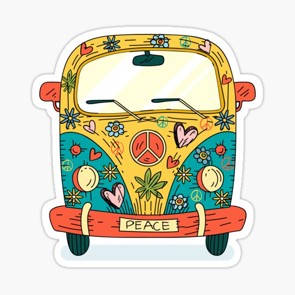 The Hippie Van Sticker