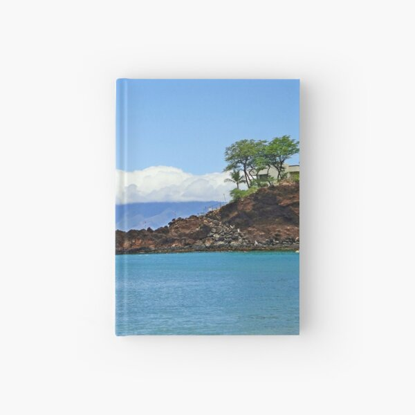 Black Rock Beach and Lanai  Hardcover Journal