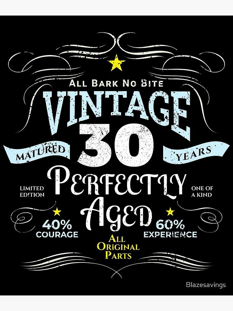 Funny Vintage 30th Birthday Gift By Blazesavings