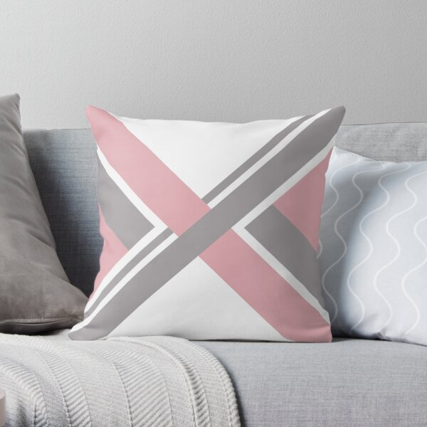 Geometrical Pink Throw Pillow
