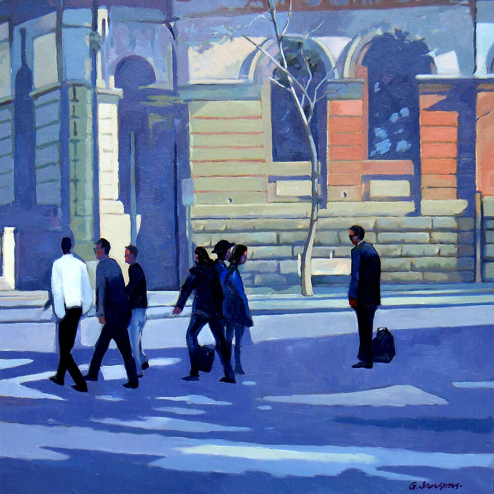 North Sydney Shadows and Light by Guntis Jansons