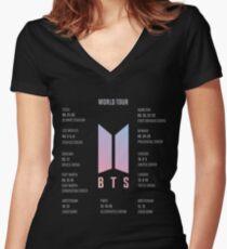 BTS Love Yourself World Tour Merch Women's Fitted V-Neck T-Shirt