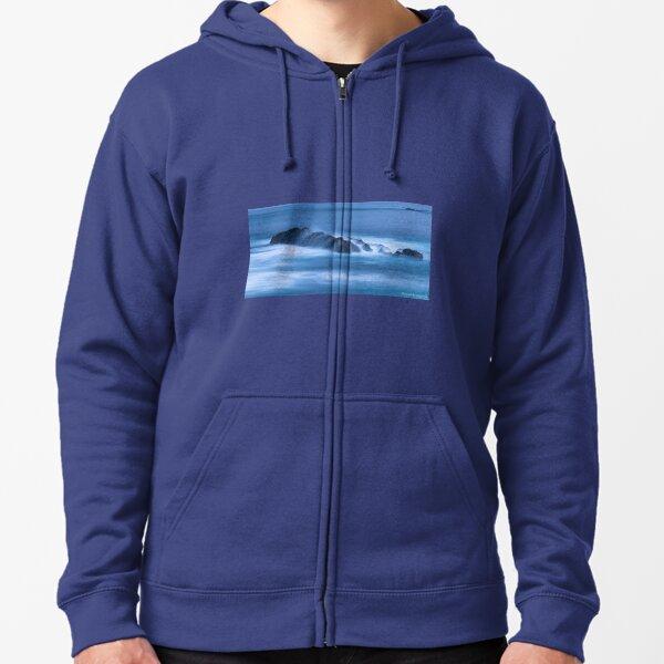 Deep blue 051 Zipped Hoodie