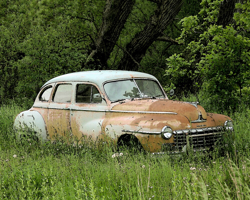 old rusty car by JohnKeeley