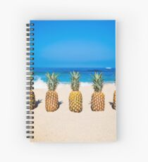 Vintage Pineapple Horizons Spiral Notebook