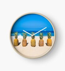 Vintage Pineapple Horizons Clock