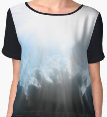 Let There Be Light Abstract Artwork Chiffon Top