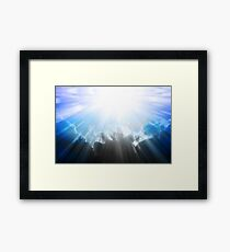 Let There Be Light Abstract Artwork Framed Print
