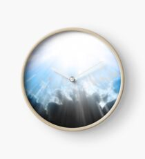 Let There Be Light Abstract Artwork Clock