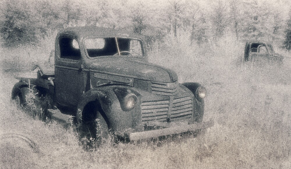 B&W old truck by JohnKeeley