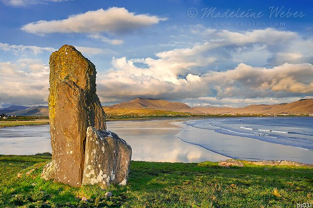 standing stones at Ballinskelligs/Waterville, County Kerry, Ireland by Madeleine  Weber