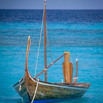 Boat in the Blue by Enagel