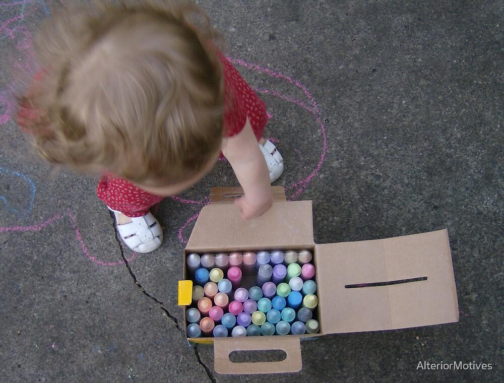 sidewalk chalk season by AlteriorMotives