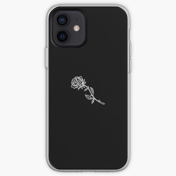 Black And White Rose Cover iPhone Soft Case