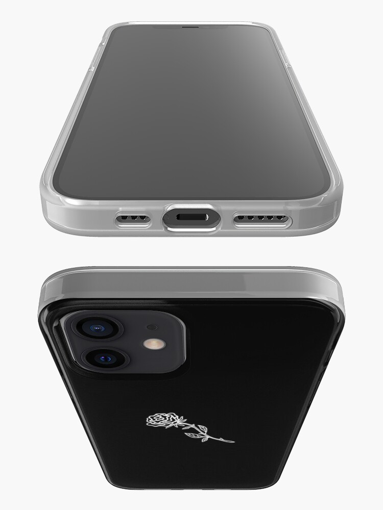 Alternate view of Black And White Rose Cover iPhone Case & Cover