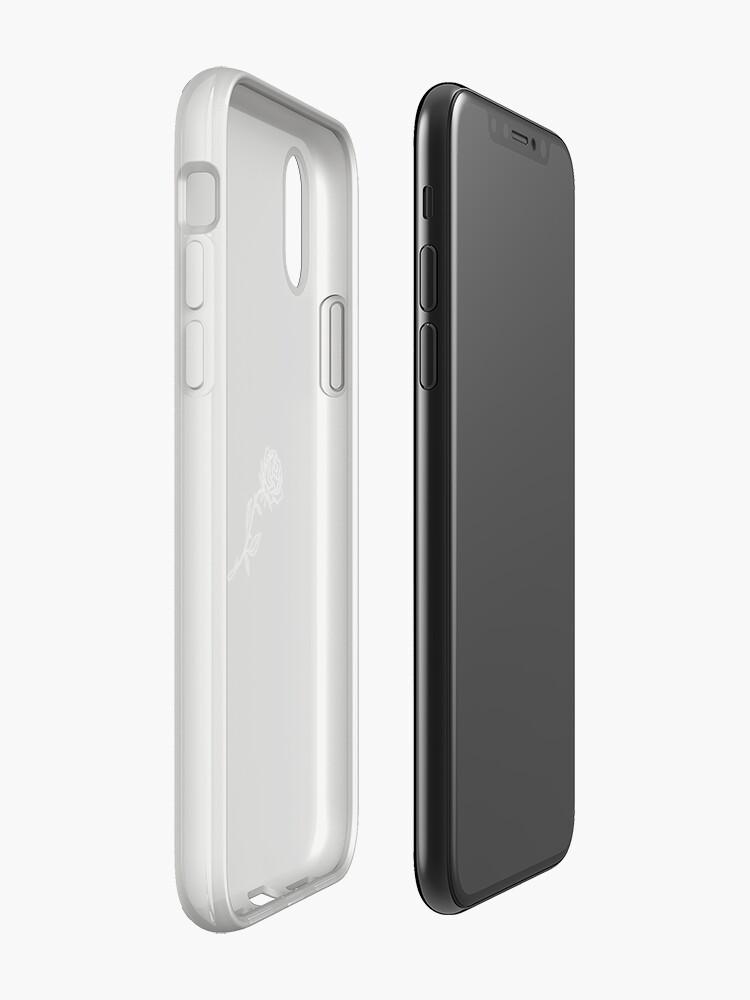 Alternative Ansicht von Schwarz-Weiß-Rose-Cover iPhone-Hüllen & Cover