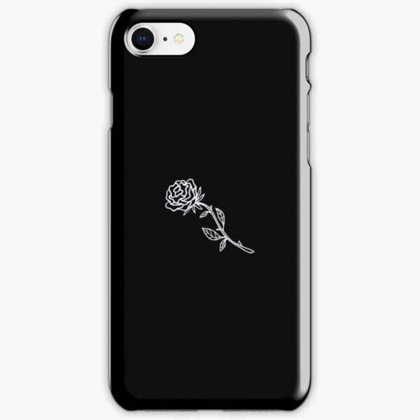 Black And White Rose Cover iPhone Snap Case
