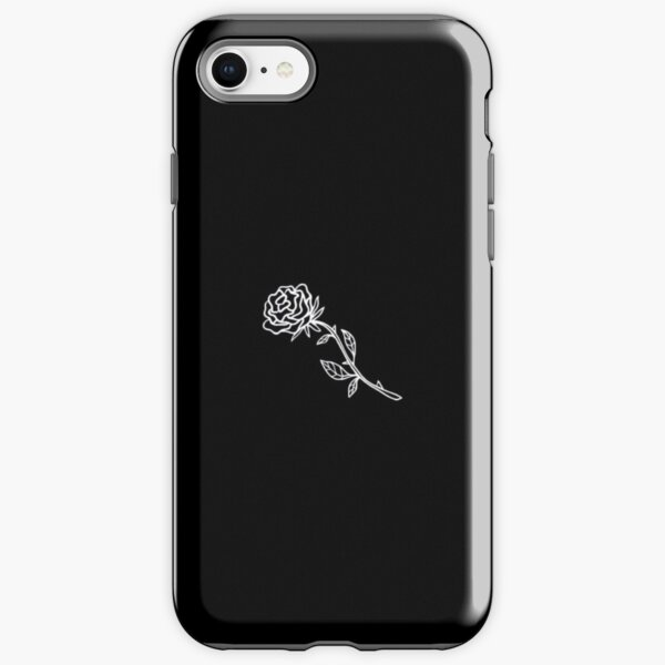 Black And White Rose Cover iPhone Tough Case